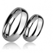 Polished Dome Tungsten Wedding Bands - Free Shipping
