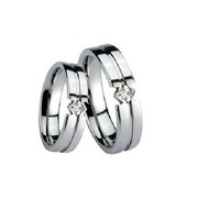 Precious Jewelry Tungsten Wedding Bands (a Pair) - Free Shipping
