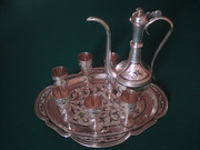 Russian Silver and Porcelain Handmade for Sale