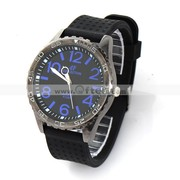 Free Shipping:Mens Sport Big Number Scale Rubber Band Wrist Watch