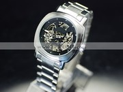 Free Shipping:Composed Stainless Steel Mechanical Mens Watch