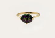 10 K Yellow Gold Mystique Topaz Ring Size 6,  7,  8,  9 Available