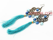 New Design Blue Series Tassel Dangle Earrings