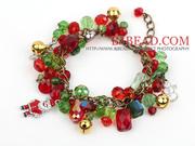 Fashion Style Crystal Xmas Charm Bracelet